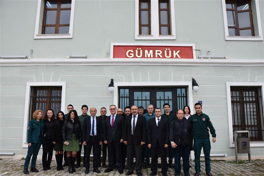 Bölge Müdürümüz Sn.Temel AKKUŞ ve idarecilerimizin Çanakkale Gümrük Müdürlüğü ziyareti
